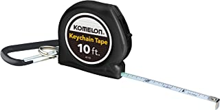 Komelon 4110CS Keychain Tape Measure Acrylic Coated Steel Blade 10' by 1/4