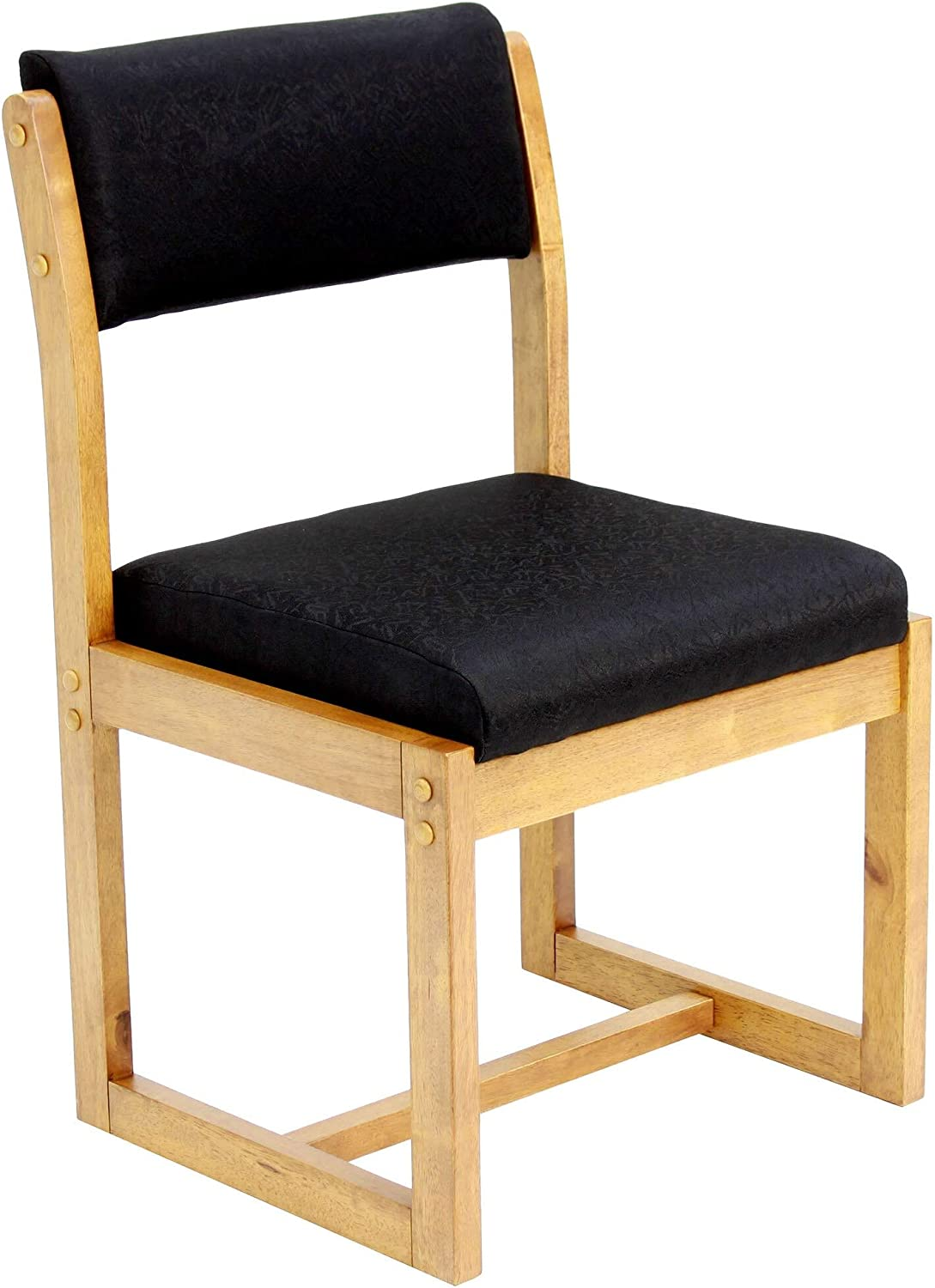 UKN Sled Base Side Max 54% OFF Chair- Medium Modern Time sale Black Contempo Oak Brown