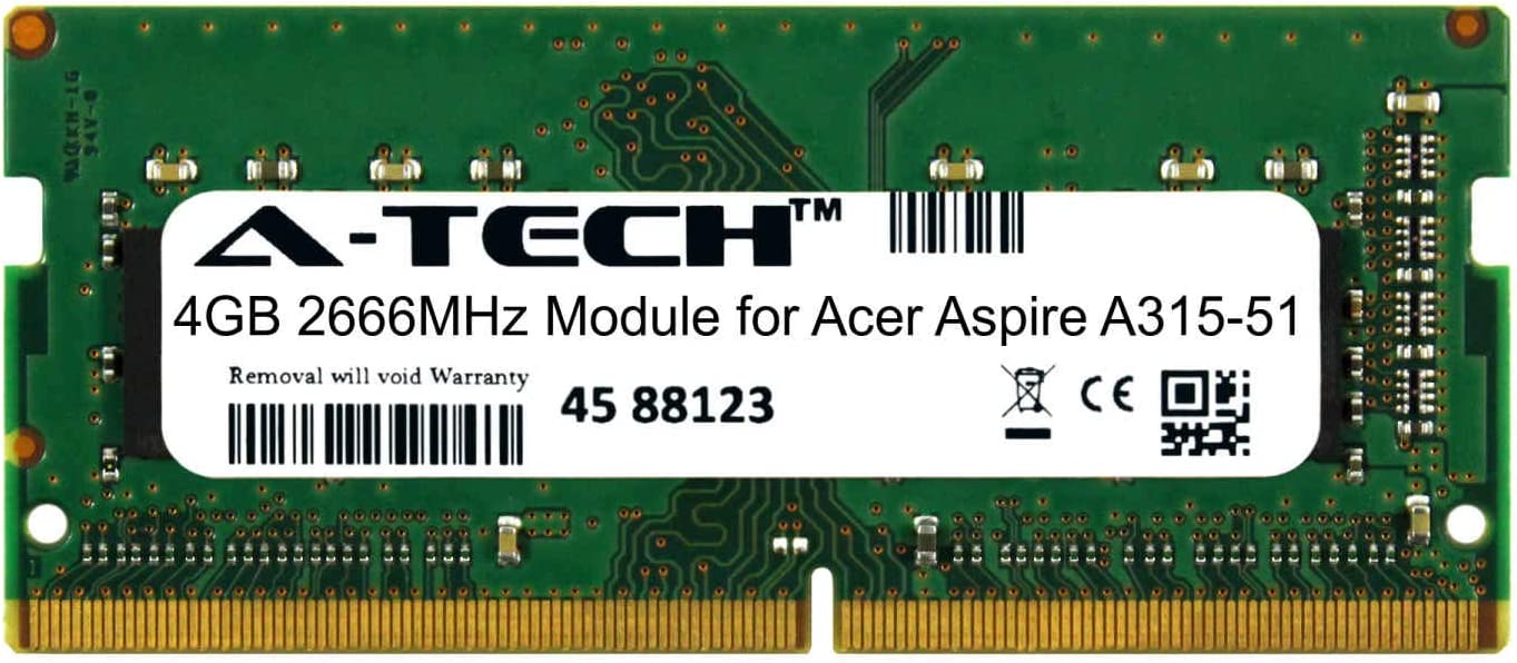 A-Tech Albuquerque Mall 4GB Module for Acer Notebook Aspire Discount is also underway Comp A315-51 Laptop