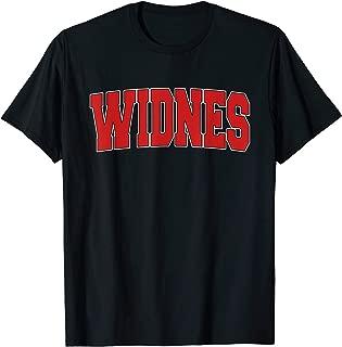 WIDNES UNITED KINGDOM Varsity Style Vintage Retro UK Sports T-Shirt