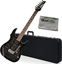 Ibanez GRX70QATKS GIO RX Electric Guitar Transparent Black Sunburst w/Hard Case