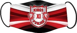 Vista IPL Team Kings XI Punjab Mask -Cotton Reusable Washable Mask Size 20x13 cms