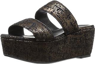 Robert Clergerie Women's FRAZZIAL Wedge Sandal, Bronze Tweed Suede, 38 EU/7.5 B US