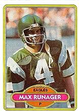 1980 Topps Football #227 Max Runager Philadelphia Eagles SET BREAK ONE Official NFL Trading Card