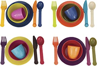 B. toys – Let's Dish Toy Dishes Set – BPA Free Plastic Kitchen Toys for Toddlers 2 years + (25-Pcs)