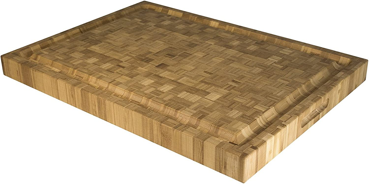 Totally Bamboo Pro Board Long Bamboo Carving and Cutting Board, 22  x 16  x 2