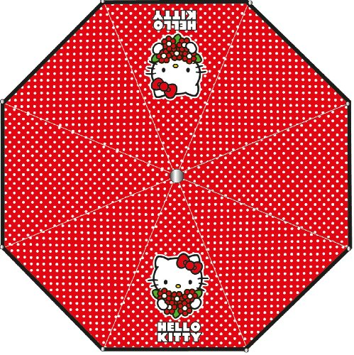 Hello Kitty Taschenschirm ROT 4877 Schirm Kinder - Regenschirm