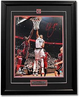 Signed DeMar DeRozan Photograph - Game 7 Playoff Win vs Heat 31x25 Frame - Autographed NBA Photos