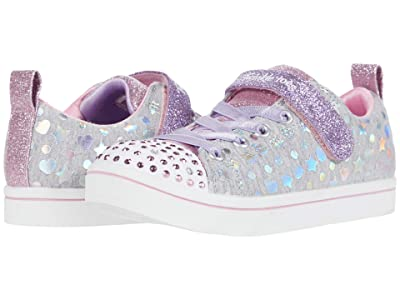 SKECHERS KIDS Twinkle Toes Sparkle Rayz 314846L (Little Kid) (Gray/Multi) Girl