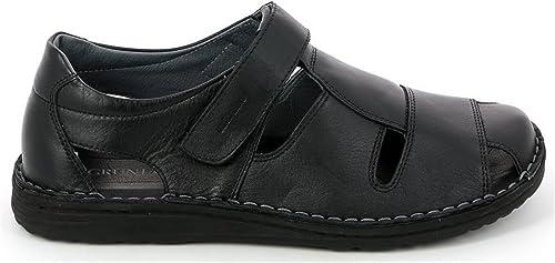Grunland Sandales pour Homme Noir Noir