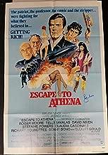 Roger Moore Signed Escape To Athena 28x40 Original Movie Poster 1979 w/ PSA/DNA