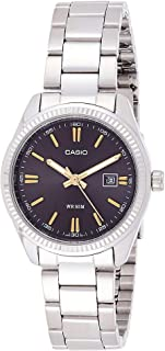 Casio Women's Analog Dial Stainless Steel Band Watch