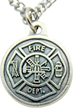 Westman Works St Florian Fire Fighter Protection Medal 3/4 Inch with Stainless Steel Chain & Gift Bag