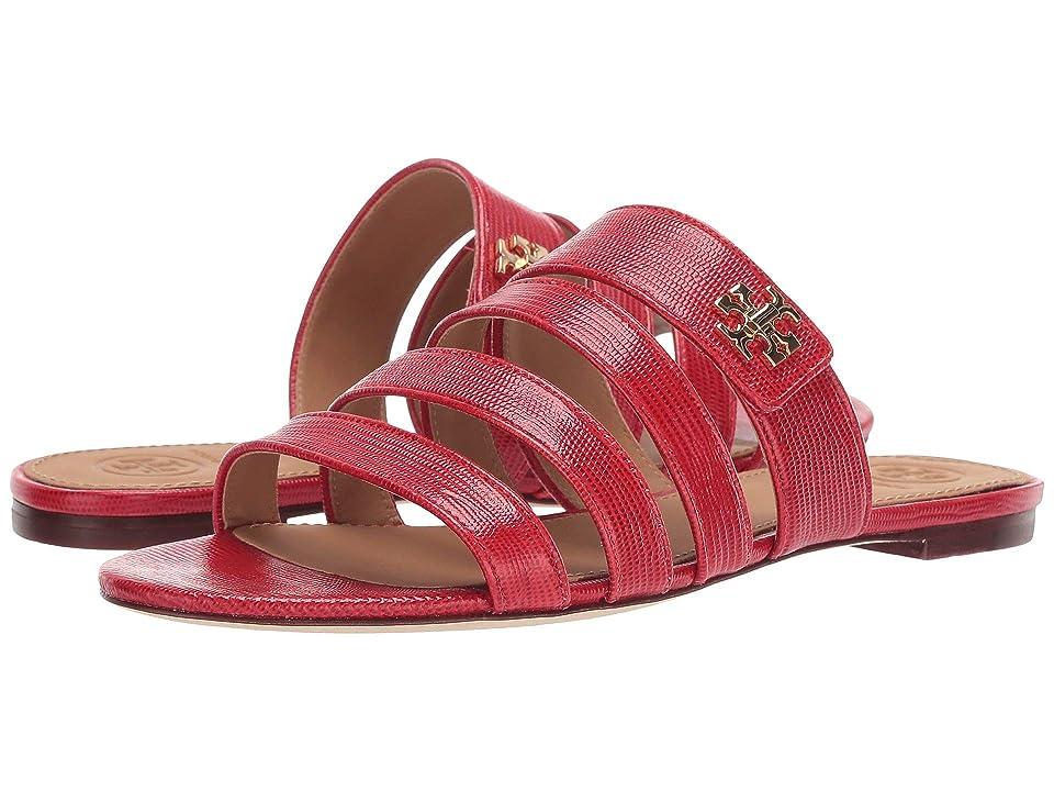 Tory Burch Kira Multi Band Sandal (Ruby Red) Women