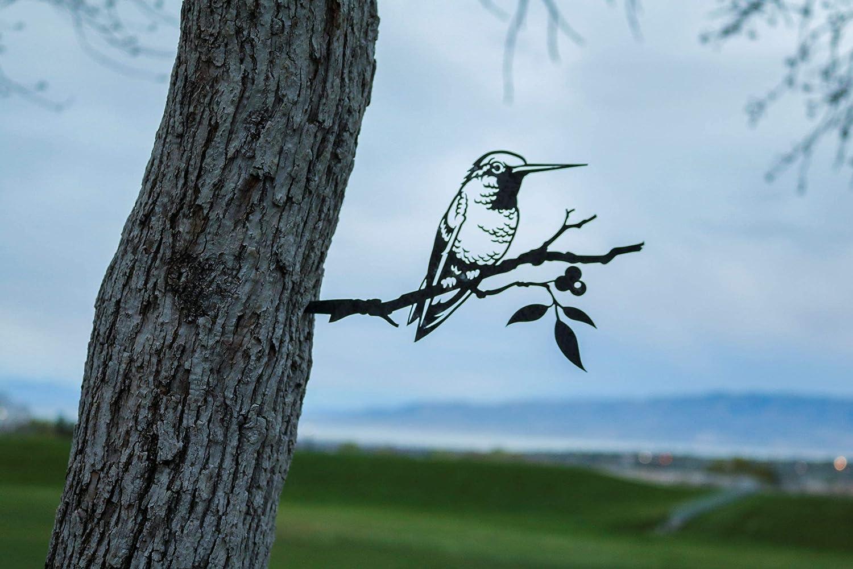 Steel Hummingbird Decoration Metal Limited Finally popular brand price sale Backyard Art Garden