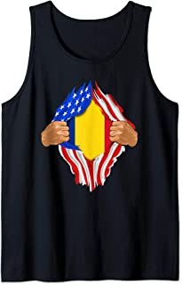 Romanian Blood Inside Me Design   Romania Flag Gift Tank Top