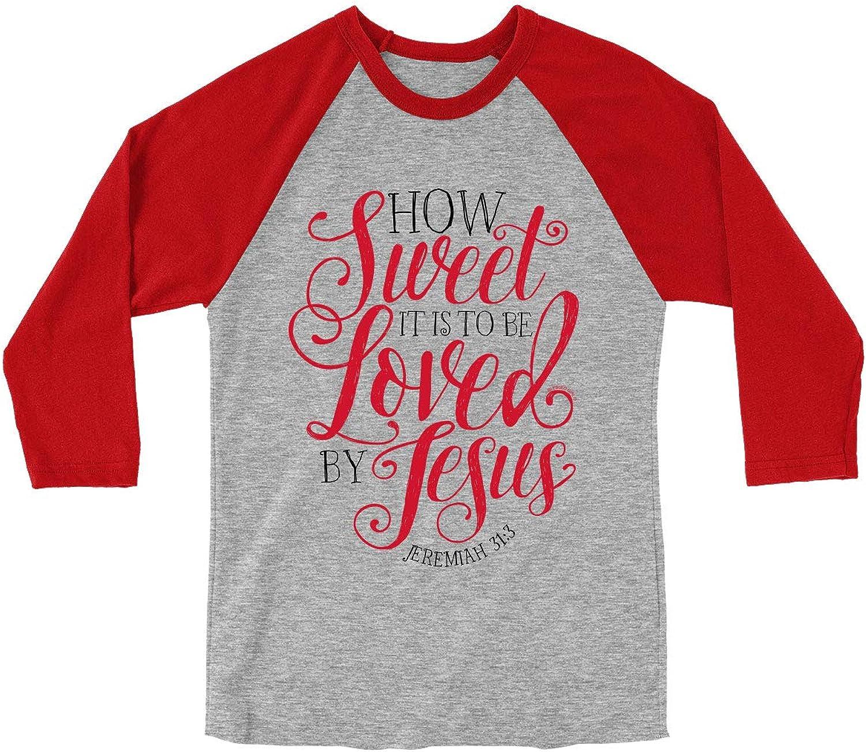 Blessed Girl Women's Christian Raglan How Sweet