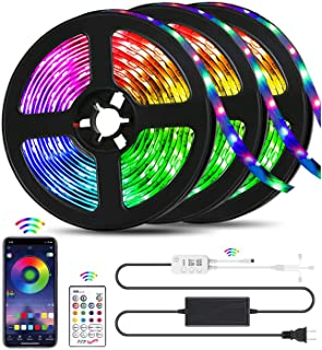 QZYL Led Lights for Bedroom,49.2 Feet Led Strip Lights,Music Sync Color Changing Flexible..