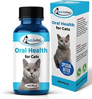 Cat Oral Health and Dental Care Supplement - Natural Anti-inflammatory and Pain Relief for Feline Stomatitis and Tooth Infection, Helps Control Tartar, Plaque and Gum Disease - Easy to Use