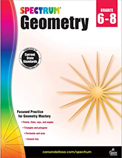 Spectrum Geometry Workbook Grades 6-8—Middle School State Standards Math for 6th, 7th,..