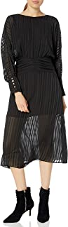 Women's Runway Long Sleeve Empire Midi Dress
