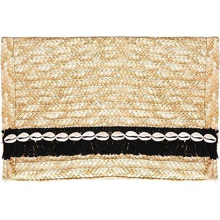 Straw Clutch Purse Wicker Floral Clutch Natural Beach Handbag Purse 80s Weave Beach Purse Hippie Summer Vacation Bag Envelope Clutch