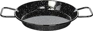 La Ideal Paellera (acero esmaltado, 24 cm), Metal, Negro