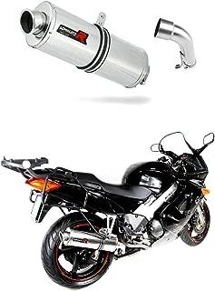 GSXF 750 Pot d/échappement Oval Silencieux Dominator Exhaust Racing Slip-on 1998 1999 2000 2001 2002 2003 2004 2005 2006