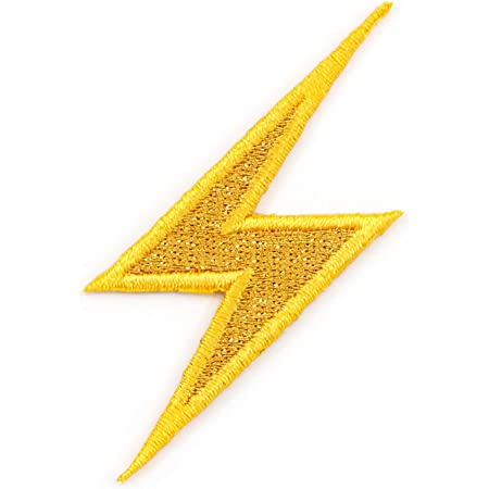 ELECTRIC ZAP APPLIQUE PURPLE LIGHTNING BOLT PATCH FLASH BOLT STRIKE SPEED