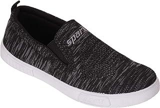 SPARX Men Black Soft Slip On Walking Sneakers