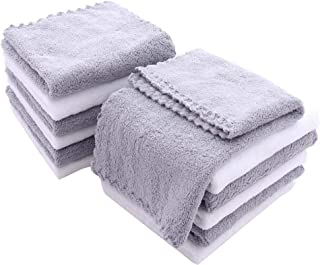 12 Pack Baby Washcloths - Extra Absorbent and Soft Wash Clothes for Newborns, Infants and Toddlers - Suitable for Baby Ski...