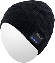 Bluetooth Beanie Hat,Qshell Washable Winter Men Women Cap with Wireless Stereo Headphones Mic Hands Free Rechargeable Battery for Outdoor Sports Running Skiing Snowboard Skating Hiking,Christmas Gift