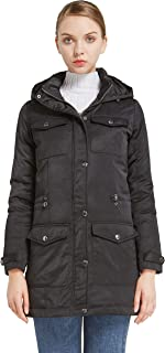 Orolay Women's Thickened Puffer Down Jacket Hooded Coat Winter