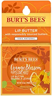 Burt's Bees 100% Natural Moisturizing Lip Butter with Orange Blossom & Pistachio 11.3g- smoothly applies a lightweight lay...