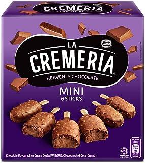 Nestle La Cremeria Mini Heavenly Chocolate Multipack Ice Cream (6 Sticks), Chocolate - Frozen, 270 ml