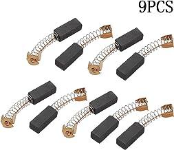SALAKA 9Pcs CB-408 Motor Rotary Power Tool Accesorios de Taladro de Cepillo de carbón 19 mm x 8 mm x 6 mm