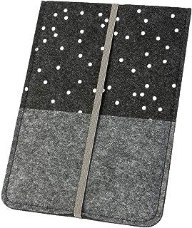 """läsplatta fodral """"Polka Prickars"""" filt mörkgrå (val av färg/mönster) skyddsfodral för e-bokläsare upp till 15 cm (6 tum) f..."""