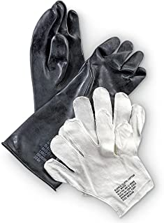 Military Outdoor Clothing New Black Rubber Chemical Gloves