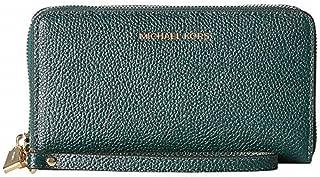 MICHAEL Michael Kors Women's Large Flat Multifunction Phone Case Racing Green