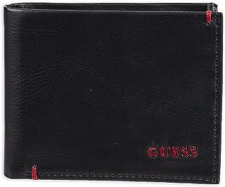 Guess 31GU13X030-612 Julian Bifold Wallet for Men, Leather - Black/Red