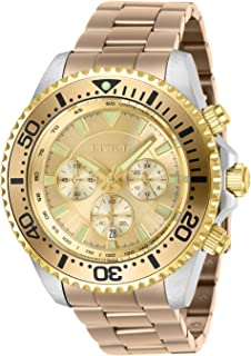Invicta Men's Pro Diver Quartz Watch with Stainless Steel Strap, Carnation, 22 (Model: 27476)