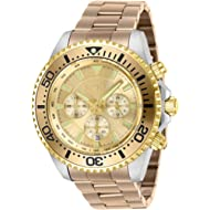 Men's Pro Diver Quartz Watch with Stainless Steel Strap, Carnation, 22 (Model: 27476)