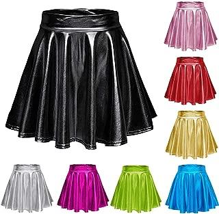 Damen Rüsche Party Skorts Hoch Figurbetontes Mini Glockenrock Schicht Shorts