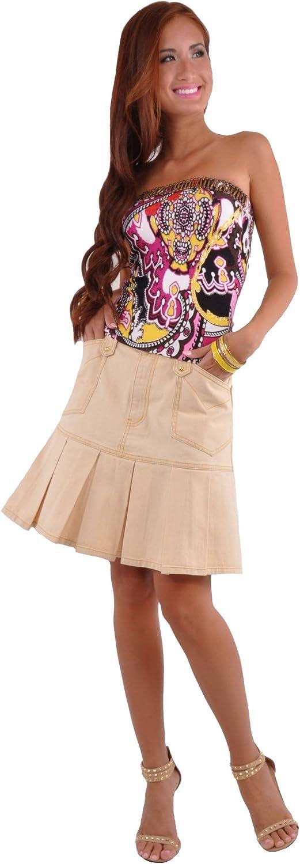 Style J in Bleached Denim Skirt