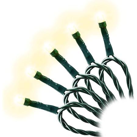 LED Lichterkette WEIHNACHTEN Kaltweiß 300 LEDs 300er grünes Kabel Trafo