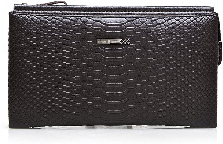 AUMING Geldbörse Herren Herren Handtasche Leder Brieftasche Business Bag Casual Brieftasche Herren Clutch Bag B07NLRTXRB