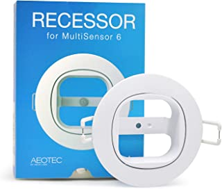 Aeotec MultiSensor 6 Recessor. In-ceiling and in-wall recessed installation accessory.