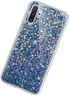 Herbests Bla etui kompatybilne z Samsung Galaxy Note 10 Plus, brokatowe etui dla dziewcząt, kryształowe Sparkle Bling Stra...