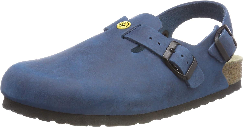 Weeger Men's ESD Antistatic Heel Strap Leather Clog