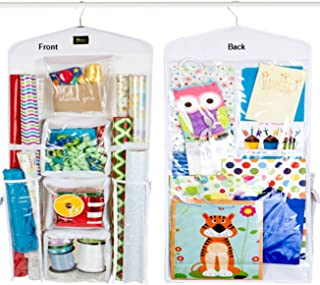 Dual Sided Vertical Gift Wrap Organizer, Wrapping Paper Organizer, Paper Storage System, Gift Bag Organizer and Gift Paper Storage Bag for All Your Gift Wrapping Supplies from Zuitcase